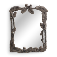 Pine Cone and Leaf Aluminum Wall Mirror | SPI Home | 34939