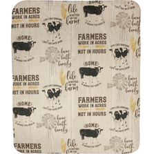 "Cow Sherpa Fleece Throw Blanket ""Farm Life"" 