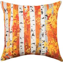 Fall Birch Tree Indoor Outdoor Throw Pillow | SLFBIR