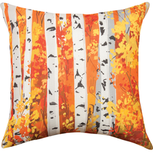 Fall Birch Tree Indoor Outdoor Throw Pillow | SLFBIR