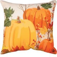 Fall Pumpkins Indoor Outdoor Throw Pillow | SLFPUM