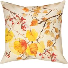 "Fall Leaves Indoor Outdoor Throw Pillow ""Golden Glory"" | SLGLDG"