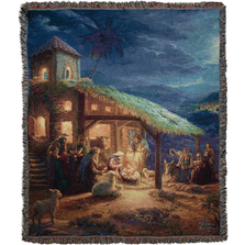 The Nativity Tapestry Throw Blanket | ATNVT
