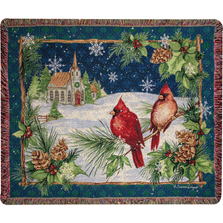 Cardinals with Church Throw Blanket | ATCCHU
