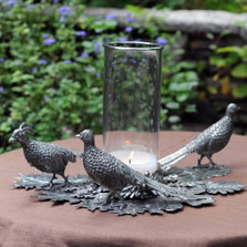 Pheasant Pillar Centerpiece Candle Holder | Vagabond House | V919