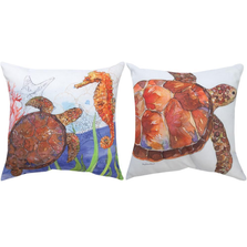 "Sea Turtle Indoor Outdoor Throw Pillow ""Oceana"" 