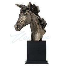 Horse Head Cold Cast | Bronze Finish | Unicorn Studios | WU77525V4