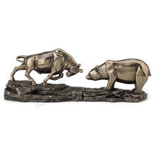 "Bull and Bear Sculpture ""Standoff"" 