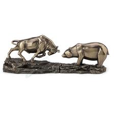 "Bull and Bear Sculpture ""Standoff"" | Bronze Finish | Unicorn Studios |  WU77487Y1"