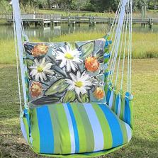 Impressionist Flowers Hammock Chair Swing | Magnolia Casual | BBLS901-SP