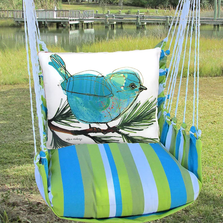 Bluebird on Branch Hammock Chair Swing | Magnolia Casual | BBRR908-SP