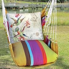 "Hummingbirds Hammock Chair Swing ""Cafe Soleil"" | Magnolia Casual | LTSW901-SP"