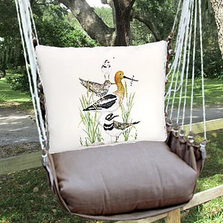 "Shorebirds Hammock Chair Swing ""Chocolate"" 