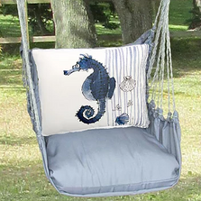 "Seahorse Hammock Chair Swing ""Gray"" | Magnolia Casual | GRRR916-SP"