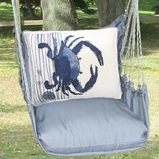 "Crab Hammock Chair Swing ""Gray""   Magnolia Casual   GRRR915-SP"