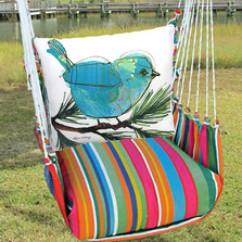 "Bluebird on Branch Hammock Chair Swing ""Le Jardin"" 