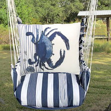 "Crab Hammock Chair Swing ""Marina Stripe"" 