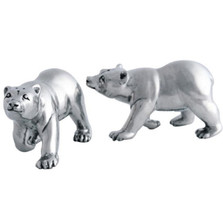 Pewter Polar Bear Salt Pepper Shakers | Vagabond House | VHCV924