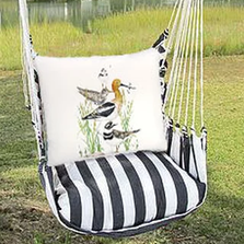 "Shorebirds Hammock Chair Swing ""True Black"" 