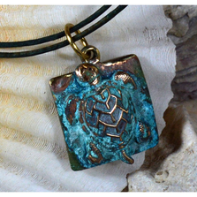 Sea Turtle Necklace | Elaine Coyne Jewelry | ECGOCP30PD