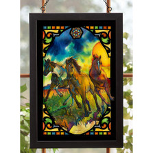 Horses Stained Glass Art | Freedom | Wild Wings | 5386498020