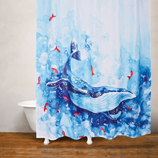 Blue Whale Fabric Shower Curtain | Moda at Home