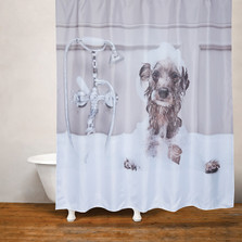 Dog Bath Fabric Shower Curtain | Moda at Home