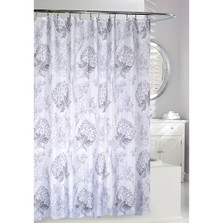 Graceful Floral Fabric Shower Curtain | Moda at Home