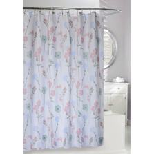 Pastel Floral Fabric Shower Curtain | Moda at Home