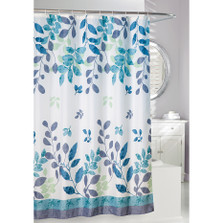 Vines and Leaves Fabric Shower Curtain | Patience Shower Curtain | Moda at Home