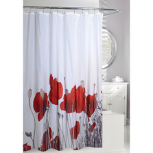 Poppy Fields Fabric Shower Curtain | Moda at Home