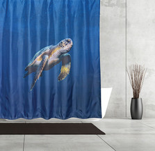 Sea Turtle Fabric Shower Curtain | Moda at Home