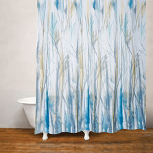 Windswept Botanical Fabric Shower Curtain | Moda at Home