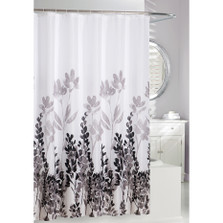 "Leaf Pattern Fabric Shower Curtain ""Wind Dance"" 