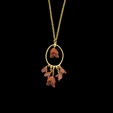 "Apple Blossom 20"" Oval Pendant Necklace   Nature Jewelry   Michael Michaud   9277BZ"
