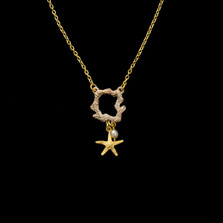 "Coral Reef Dainty 16"" Pendant Necklace 