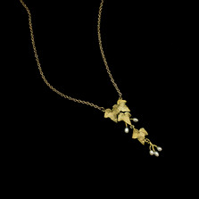 "Ivy 16"" Leaf Drop Pendant Necklace 