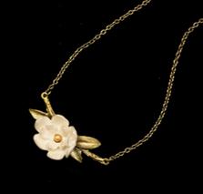 "Magnolia Branch 16"" Pendant Necklace   Nature Jewelry   Michael Michaud   9290BZ"
