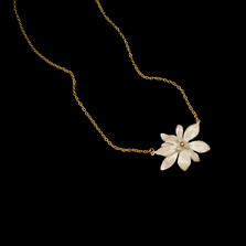 "Magnolia Flower 16"" Pendant Necklace 
