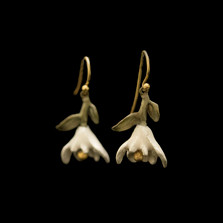 Magnolia Blossom Drop Wire Earrings | Nature Jewelry | Michael Michaud | 3534BZ
