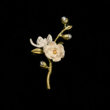 Magnolia Flower Statement Brooch | Nature Jewelry | Michael Michaud | 5988BZ