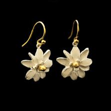 Magnolia Flower Wire Earrings | Nature Jewelry | Michael Michaud | 3543BZ