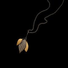 "Piper Leaf 24"" Long Pendant Necklace | Nature Jewelry | Michael Michaud | 9301BZ"