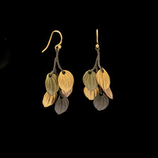 Piper Leaf Branch Wire Earrings   Nature Jewelry   Michael Michaud   3553BZ
