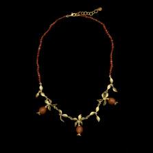 "Pomegranate 18"" Garnet Necklace | Nature Jewelry | Michael Michaud | 9286BZ"