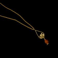 "Pomegranate 20"" Tear Drop Pendant Necklace | Nature Jewelry | Michael Michaud | 9288BZ"