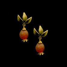 Pomegranate Post Earrings | Nature Jewelry | Michael Michaud | 3542BZ