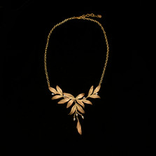 "Leaf Tapestry 16"" Statement Necklace 