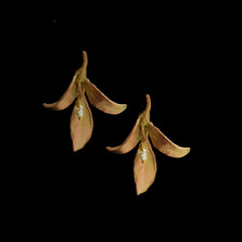 Leaf Tapestry Post Earrings | Nature Jewelry | Michael Michaud | 3544BZ