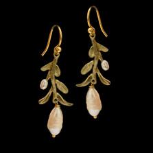 Victorian Vine Leaf Wire Earrings | Nature Jewelry | Michael Michaud | 3555BZ